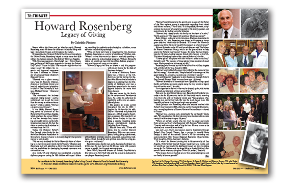Photo of Howard Rosenberg – Legacy of Giving