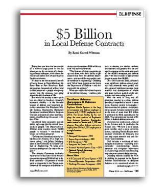 Photo of $5 Billion  in Local Defense Contracts