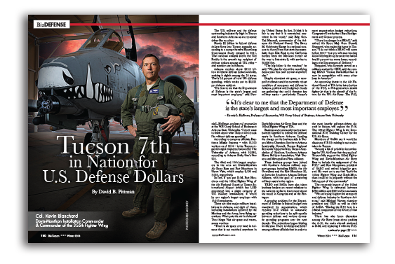Photo of Tucson 7th in Nation for U.S. Defense Dollars