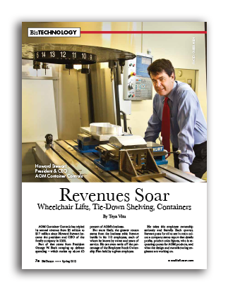 Photo of Revenues Soar – Wheelchair Lifts, Tie-Down Shelving, Containers