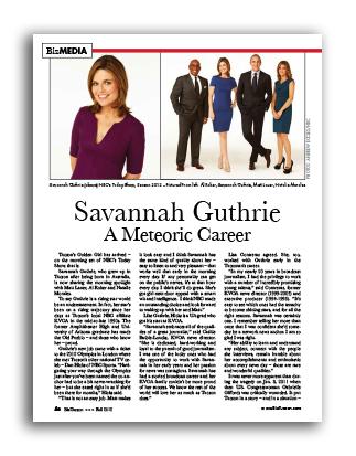 Photo of Savannah Guthrie A Meteoric Career
