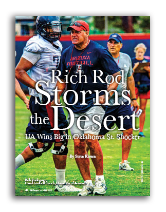 Photo of Rich Rod Storms the Desert UA Wins Big in Oklahoma St. Shocker