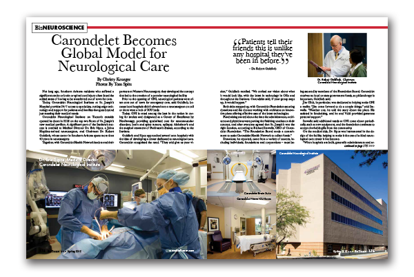 Photo of Carondelet Becomes Global Model for Neurological Care