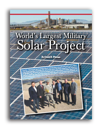 Photo of World's Largest Military Solar Project