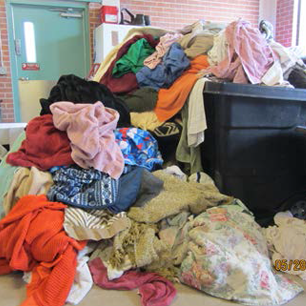 Photo of Tackling a mini-mountain of laundry at animal shelter: Supervisor Sharon Bronson challenges community to purchase washer/dryer
