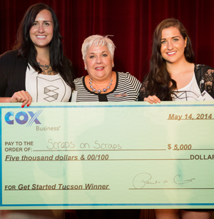 """Photo of Scraps on Scraps Wins Cox Business' """"Get Started Tucson"""" Pitch Competition"""
