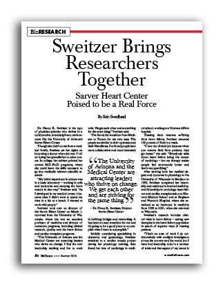 Photo of Sweitzer Brings Researchers Together – Sarver Heart Center Poised to be a Real Force