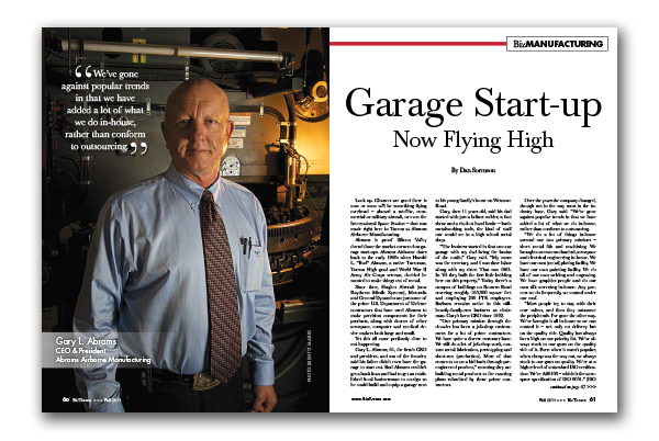 Photo of Garage Start-up – Now Flying High