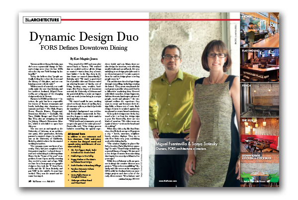 Photo of Dynamic Design Duo – FORS Defines Downtown Dining
