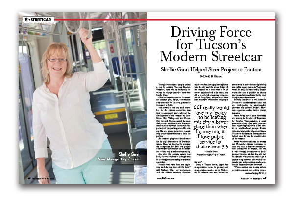 Photo of Driving Force for Tucson's Modern Streetcar – Shellie Ginn Helped Steer Project to Fruition