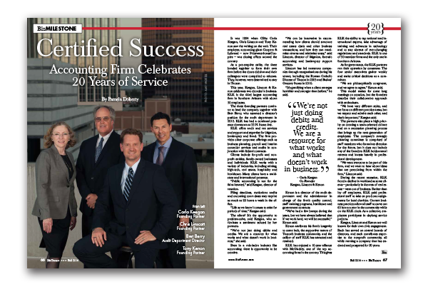 Photo of Certified Success – Accounting Firm Celebrates 20 Years of Service