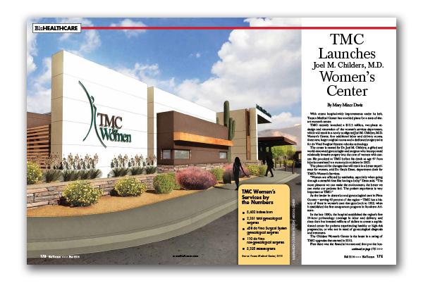 Photo of TMC Launches Joel M. Childers, M.D. Women's Center