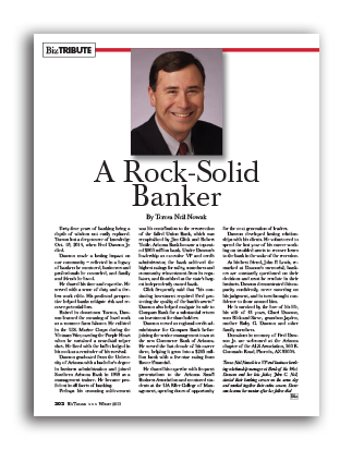 Photo of A Rock-Solid Banker