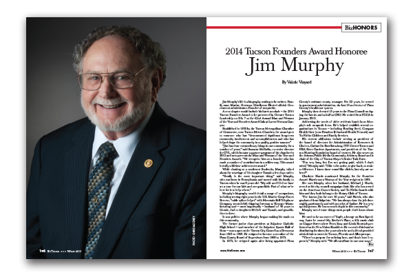 Photo of 2014 Tucson Founders Award Honoree Jim Murphy