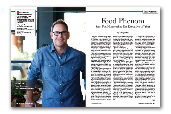 Photo of Food Phenom – Sam Fox Honored as UA Executive of Year