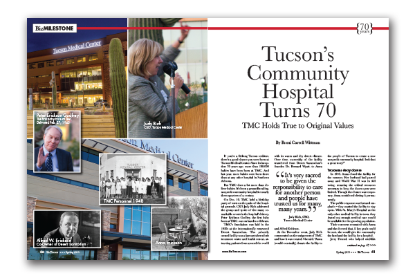 Photo of Tucson's Community Hospital Turns 70 TMC –  Holds True to Original Values