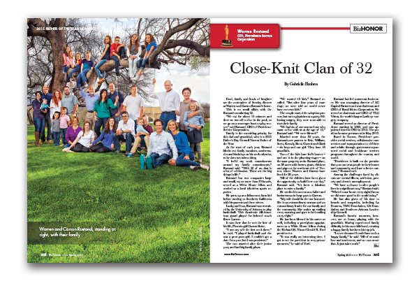Photo of WARREN RUSTAND – Close-Knit Clan of 32