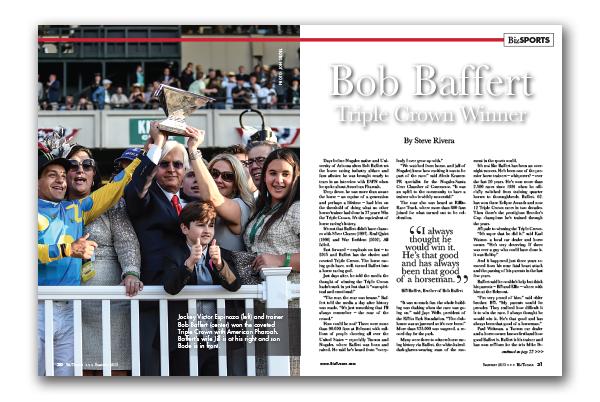 Photo of Bob Baffert Triple Crown Winner 2015
