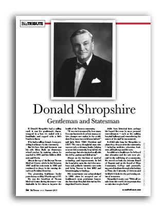 Photo of Donald Shropshire Gentleman and Statesman
