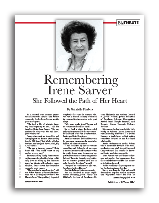 Photo of Remembering Irene Sarver