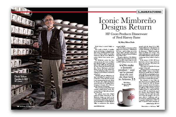 By Jay Gonzales Iconic Mimbreño Designs Return Hf Coors Produces Dinnerware