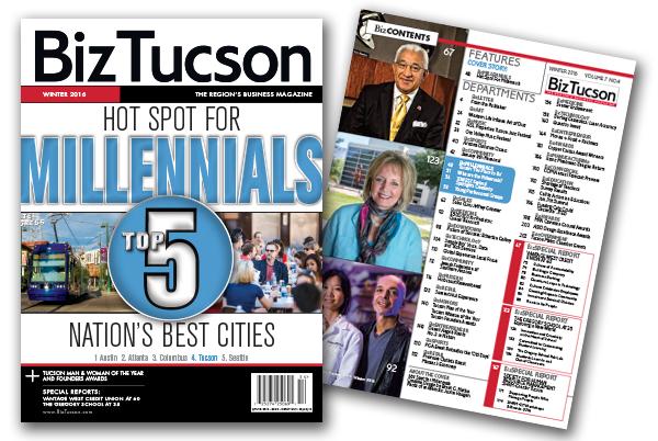 Photo of BizTUCSON Winter Issue 2016