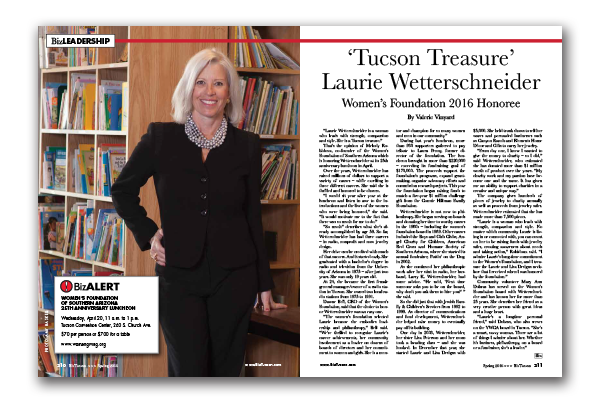 Photo of Laurie Wetterschneider – 'Tucson Treasure'