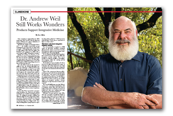 Photo of Dr. Andrew Weil Still Works Wonders