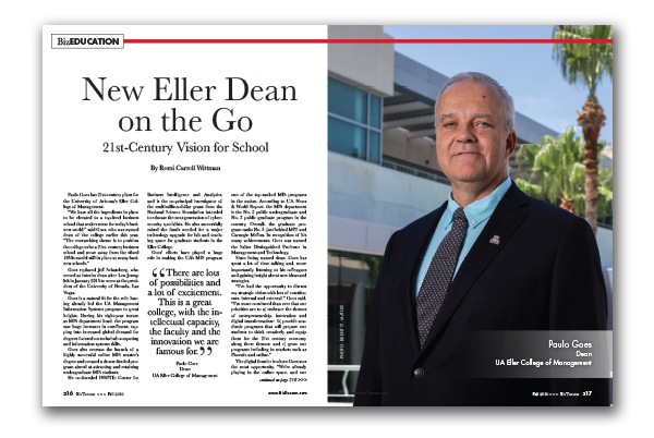 Photo of Paulo Goes – New Eller Dean on the Go