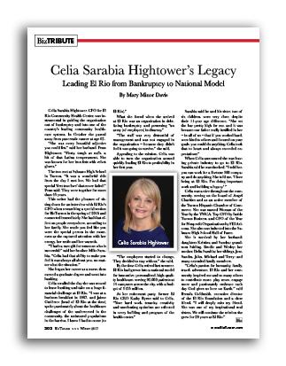 Photo of Celia Sarabia Hightower's Legacy