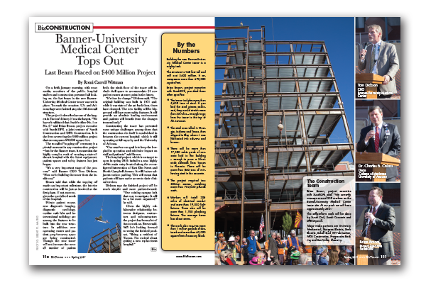 Photo of Banner-University Medical Center Tops Out