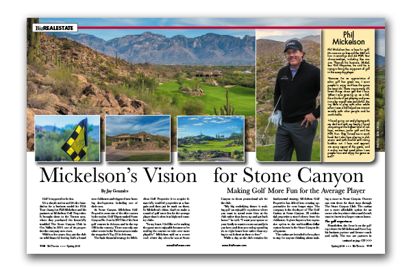 Photo of Mickelson's Vision for Stone Canyon