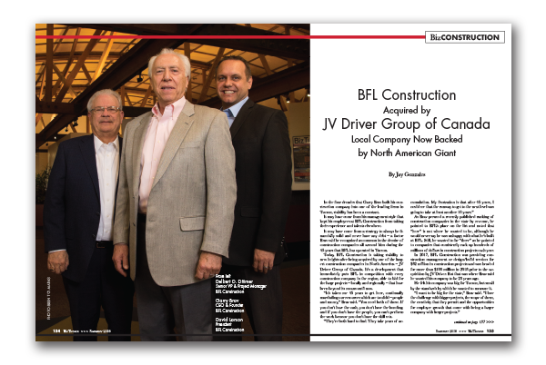 Photo of BFL Construction  Acquired by JV Driver Group