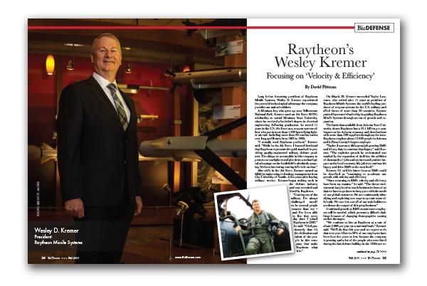 Photo of Raytheon's Wesley Kremer