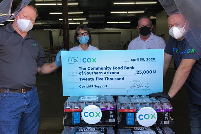 Photo of Cox Gives $25,000 to Community Food Bank