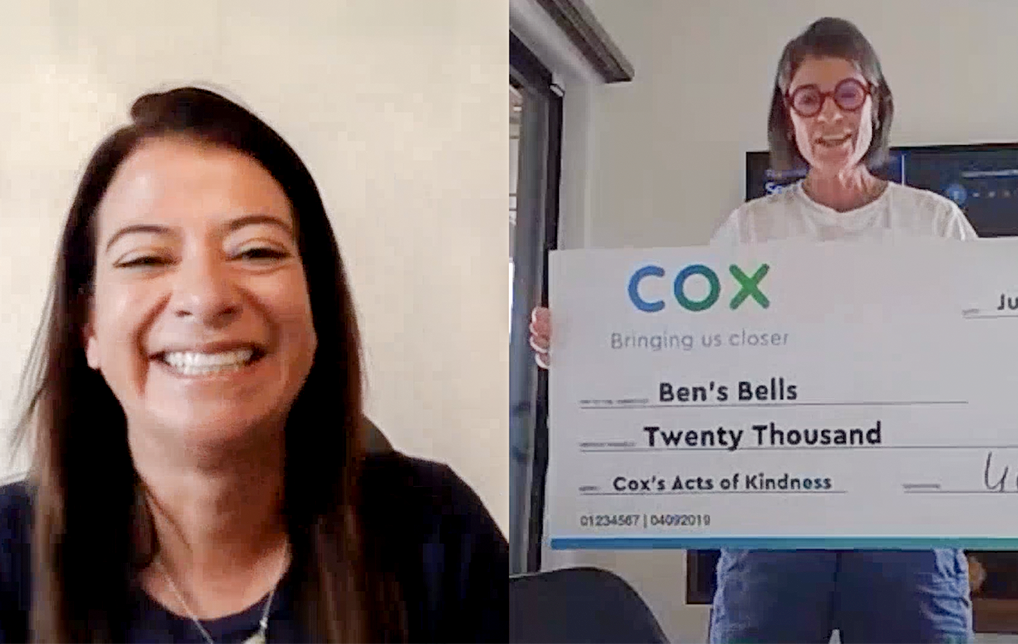 Photo of Cox Employees Donate $20,000 to Ben's Bells