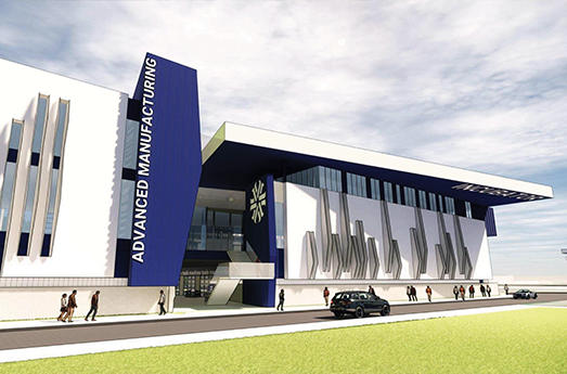 Photo of Pima Community College's New Advanced Manufacturing Building