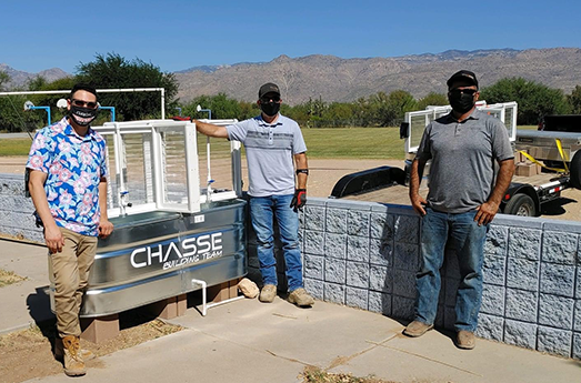 Photo of CHASSE Building Team Builds, Installs New Handwashing Stations at Schools