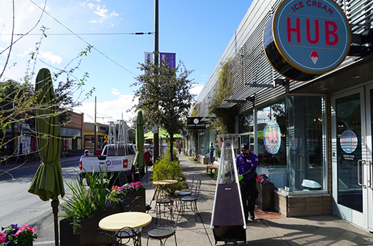 Photo of HSL Properties Sponsors Outdoor Heaters for Downtown Dining