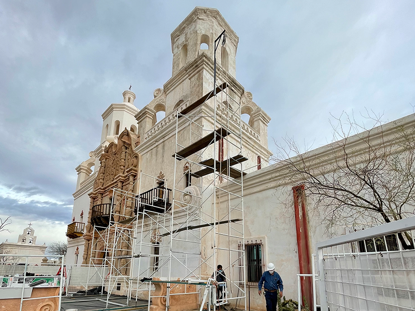 Photo of San Xavier Mission's East Tower to Undergo More Exterior Work